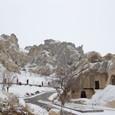 雪のギョレメ屋外博物館