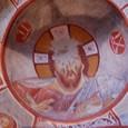 天井フレスコ画 キリスト 聖バルバラ教会にて