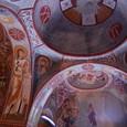 美しいフレスコ画 聖バルバラ岩窟教会