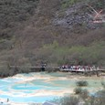 黄龍 五彩池 タルチョーと石灰棚