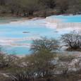 黄龍 五彩池 下流の石灰棚