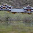 黄龍 五彩池と黄龍寺