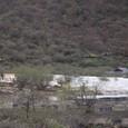 黄龍 五彩池 白い石灰棚が見え始める