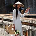 阮朝(グエン)宮殿跡で見かけた美人