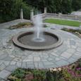 噴水と花壇