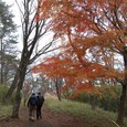 初冬の湯坂道を歩く 古河さん、小島さん