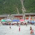 白馬族集落の広場
