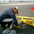 グライダーの準備作業