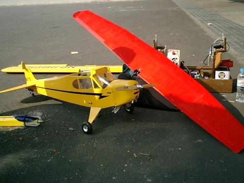 カブ機とグライダー