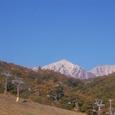 白馬鑓ガ岳(左)、杓子岳(右)