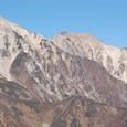 白馬三山(左から)鑓ガ岳、杓子岳、白馬岳