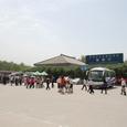 兵馬俑博物館の近くのバス停