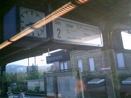 同じくBensheim駅風景