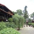 山門から直線に堂楼が並ぶ四天王寺様式