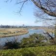 多摩川の左方向には富士通川崎工場