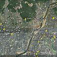 継体天皇と淀川流域遺跡地図