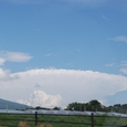 蓼科高原にクラゲのような雲出現