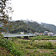 根知川に架かる大糸線の鉄橋