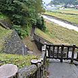 根知川と断層露頭(左斜面)
