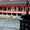 引き潮時の神社