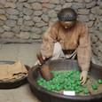 柿渋染めを作る
