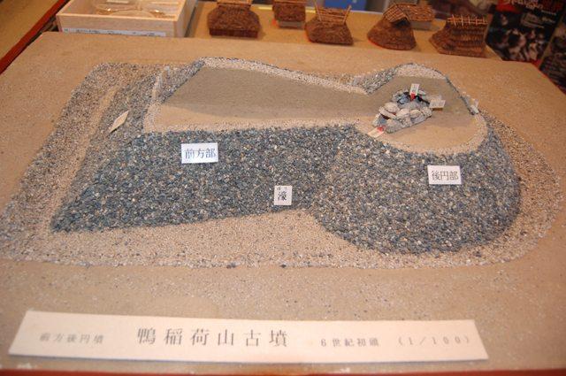 二層構造の鴨稲荷山古墳模型