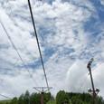 見上げる雲が少年時代を思い出させる