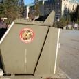 クマ対策 ゴミ箱です