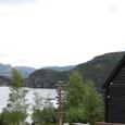 フィヨルド湖と登山口