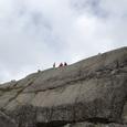 pulpit rockに立つ人々