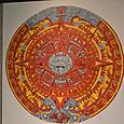 アステカカレンダー 太陽の石の模写