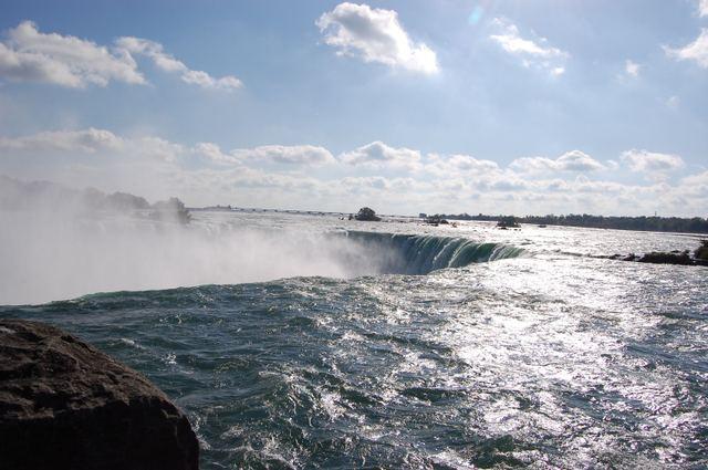カナダ滝接近