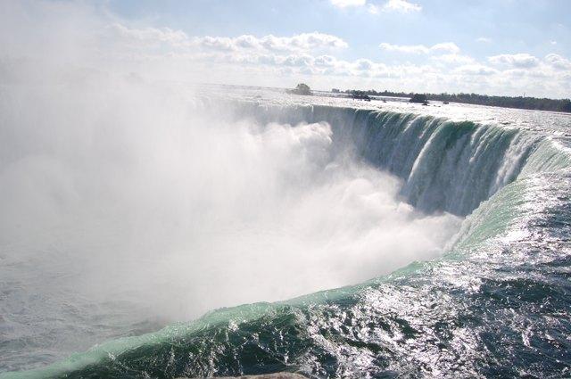 迫力のカナダ滝