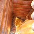 足元から涅槃仏を眺める