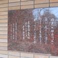 鴎外歌碑 『沙羅の木』 永井荷風筆