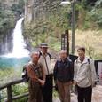 大滝での記念撮影