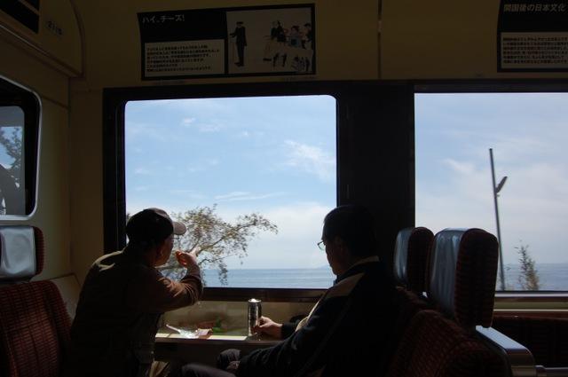黒船電車 車窓