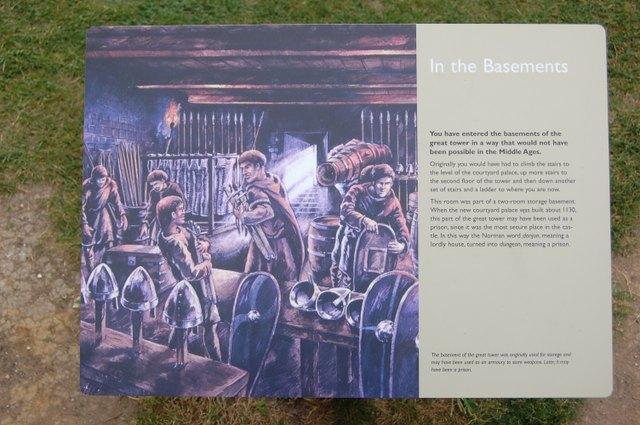 中世の城の武器庫