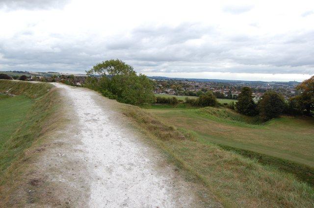 城壁からソールズベリーの街を見下ろす