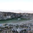 ヒエラポリス遺跡と雪山