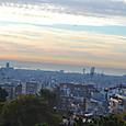 地中海とバルセロナの夜明け