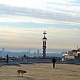 眼下にバルセロナと地中海
