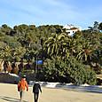 中央広場の山側の景色