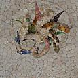 列柱廊天井モザイク 地中海の蛸