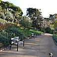 グエル公園とベンチ&猫