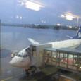 オスロ空港 雨だ~~