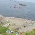 スコトン岬と漁船
