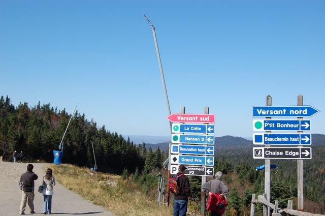 山頂展望台を目指す