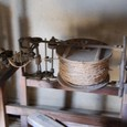 藁から縄を作る機械