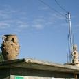 アツォンパ村 土器が屋根の上に